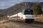 Amtrak's New Talgo Leaves Colorado - 12 Apr 2013